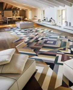 Colourful Modern Wood Floor