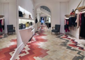 Red and Pink Wood Flooring
