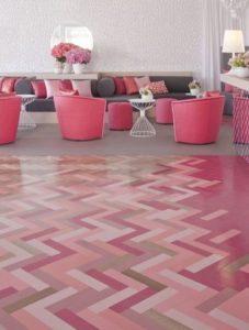 Pink Wood Flooring