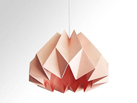 Pink Origami Lamp