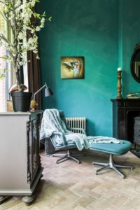 Turquoise Room and Beech Flooring