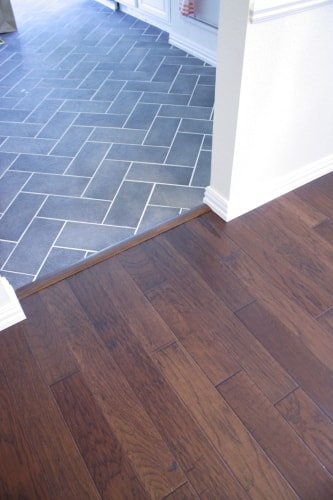 Wood and Tile Floor
