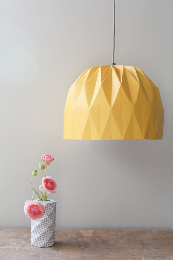 Yellow Origami Lamp
