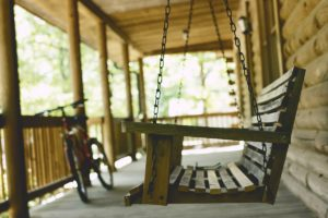 Porch with swing bench