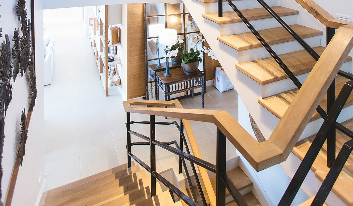 Beautiful light wood staircase
