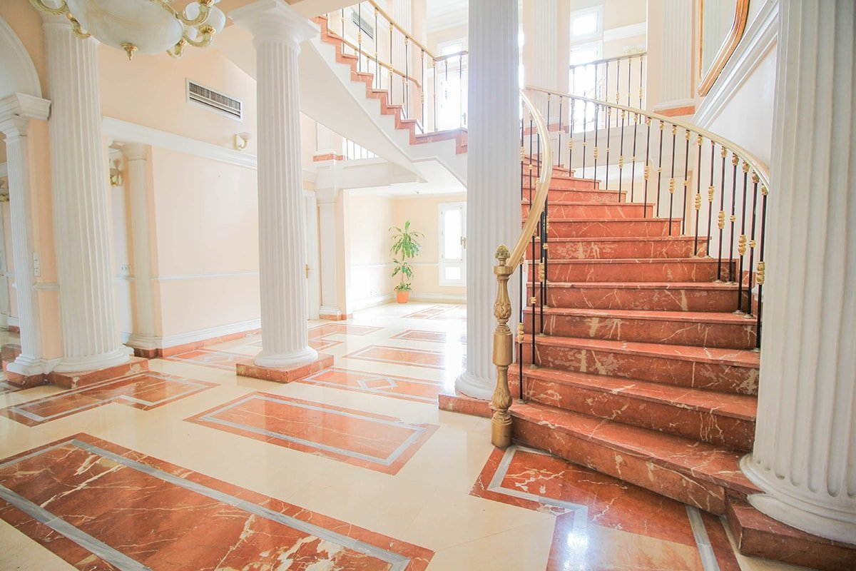 Large grand staircase