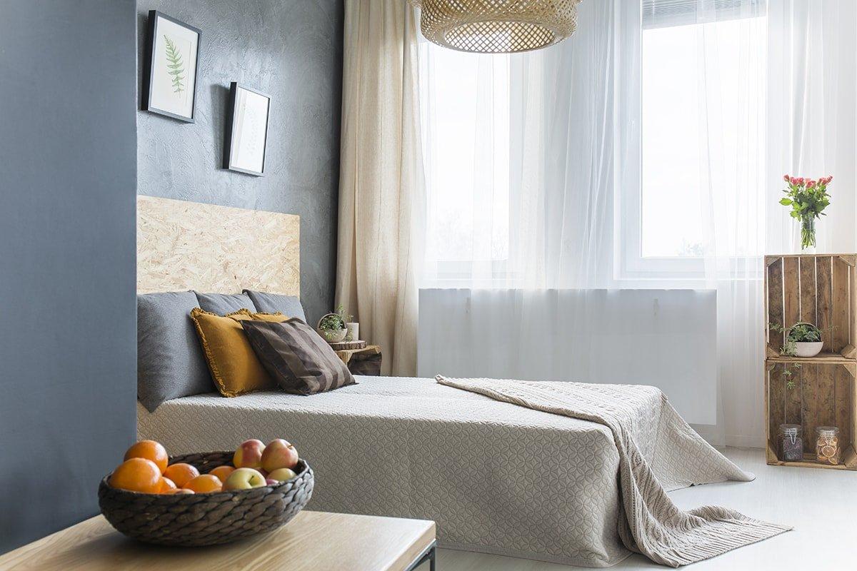 Relaxing blue bedroom