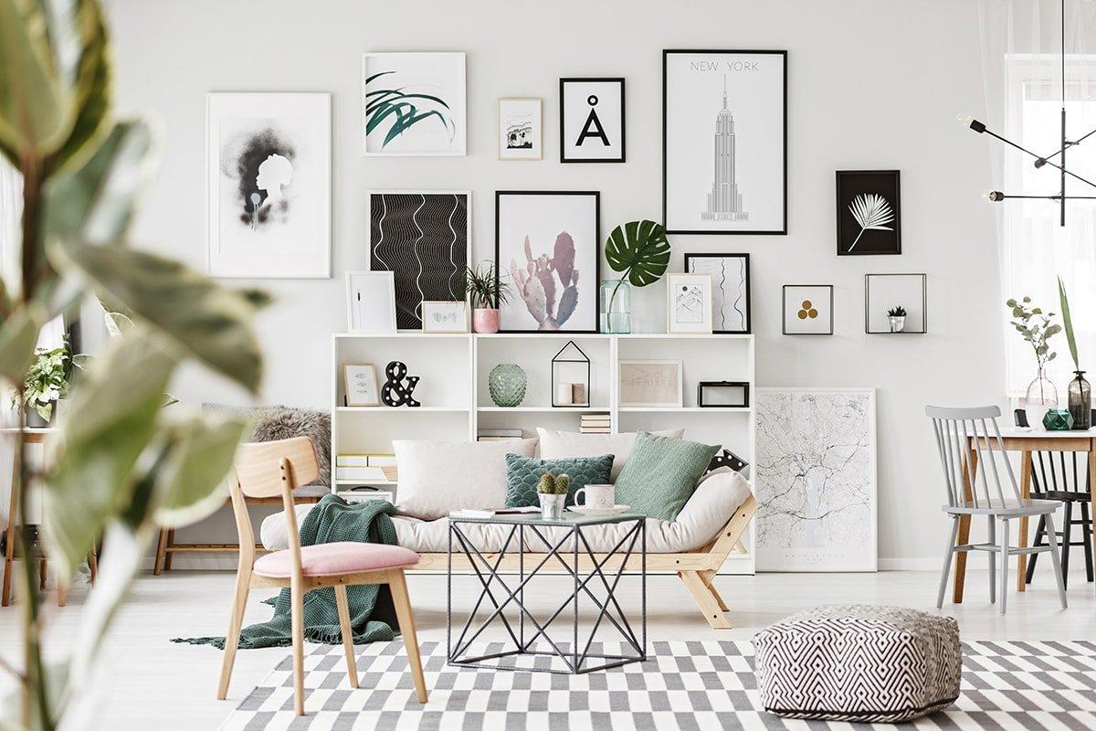 Big Bold Prints on Wall