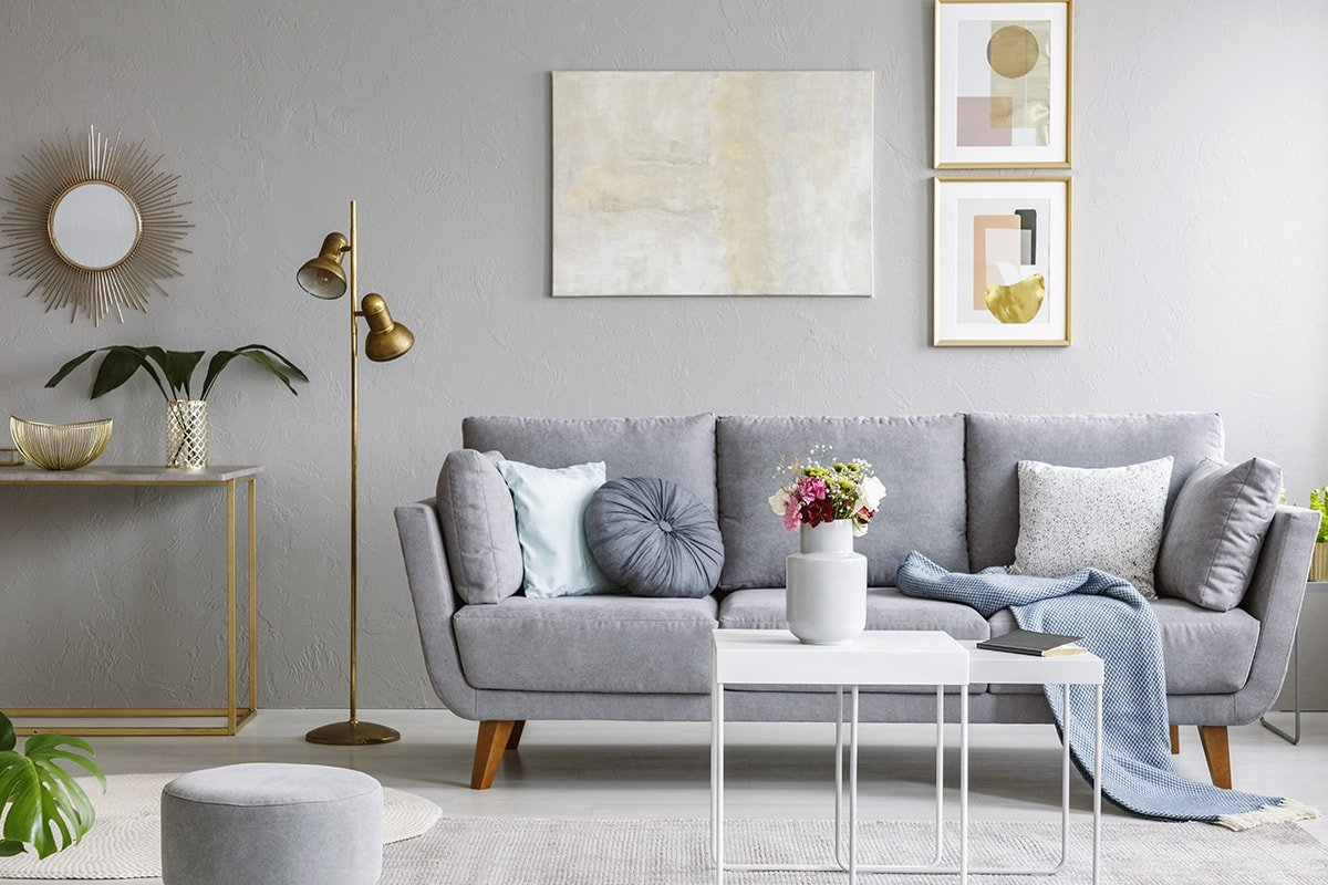 Gold Tones in Living Room
