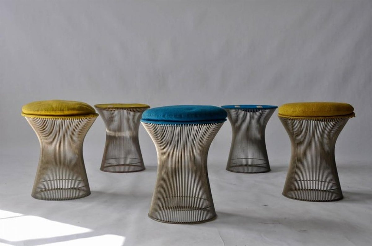 Yellow and blue stools