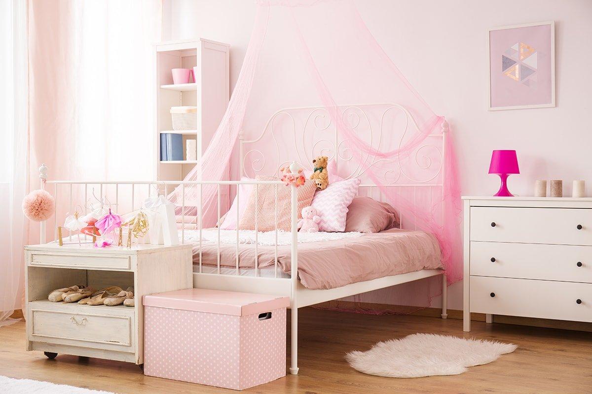 Pink themed little girl's bedroom