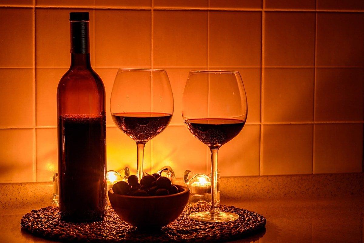 Romantic date night lighting