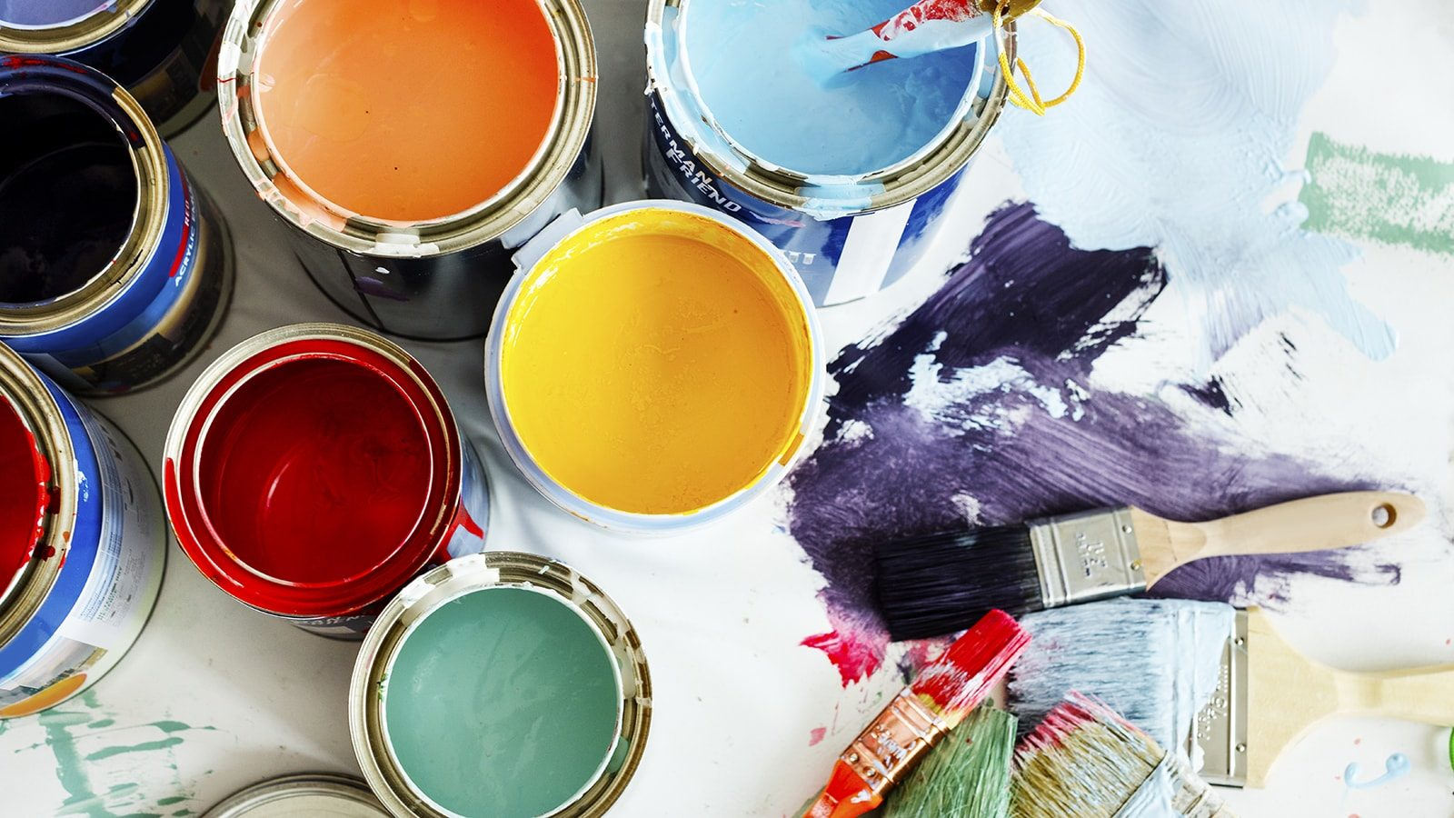 Different colors of paint for home renovations