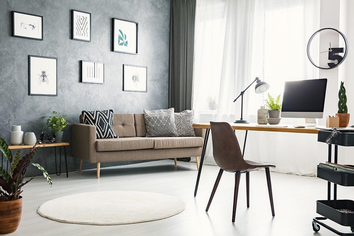 Modern rental property living room
