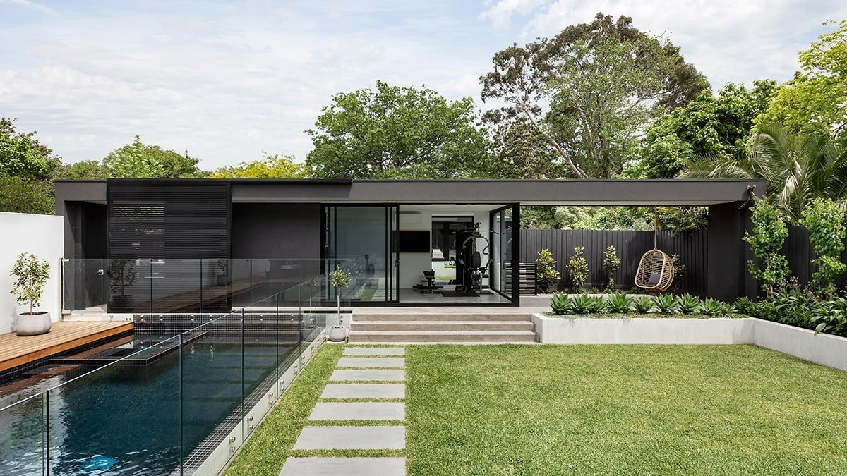 Modern home exterior with amazing curb appeal