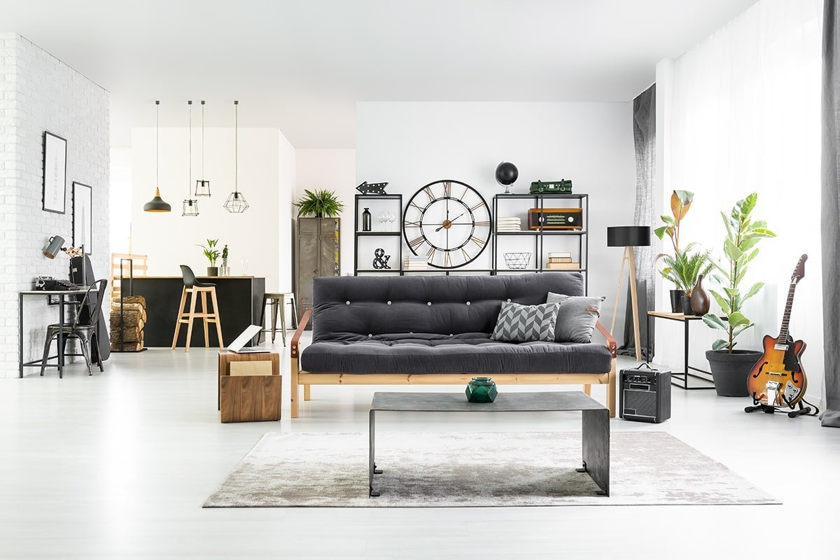 Black and white themed apartment