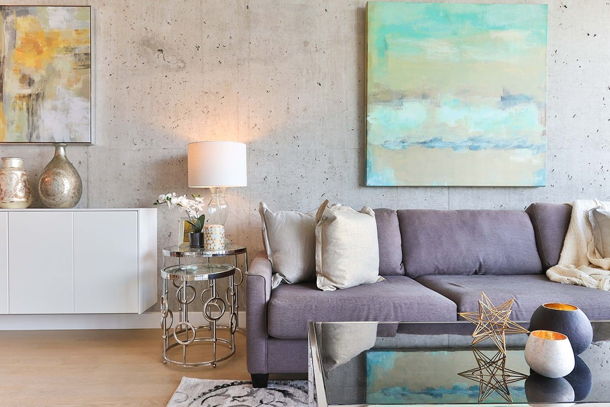 Chic and clean living room