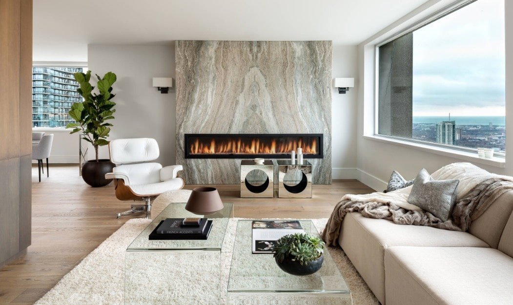 Modern condo living room